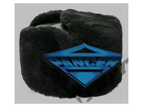 Шапка ушанка черная искусственный мех, искусственная кожа Киев