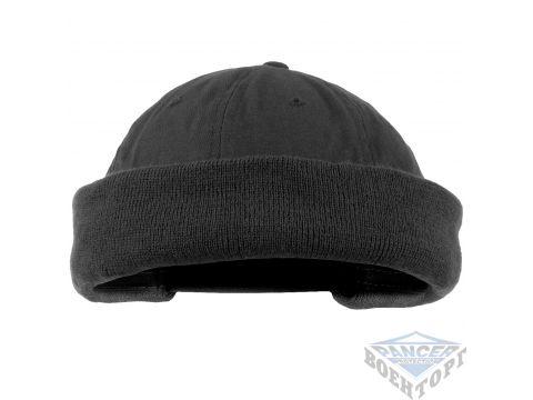 Шапка ROUND CAP черная (100% хлопок) Киев