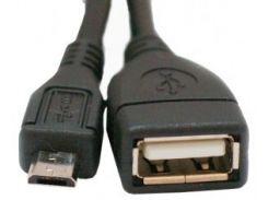 Кабель Mini USB2.0 5P/AF 0,8m ATcom OTG