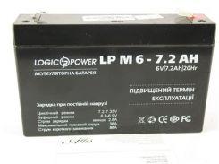 Аккумулятор 6V 7,2Ah LP 6-7,2 AH LogicPower