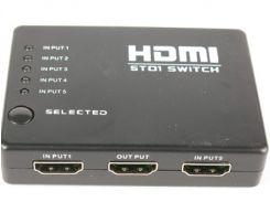 Свич HDMI 5-входов 1-выход, с пультум ДУ, пассивный 5T01