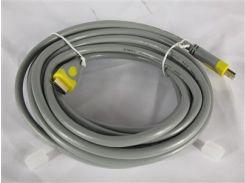Кабель HDMI-HDMI V-2.0 5m V-Link High Speed OD-8.2mm, Grey, коннектор Grey/Yellow