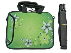 "Сумка-чехол для планшета/нетбука 10.2"" гламур HQ-Tech H191 ""Абстракция цветы зеленые"" 27,5x22см"
