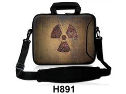 """Сумка-чехол для планшета/нетбука 10.2"""" гламур HQ-Tech H891 """"Радиация"""", неопреновый 27,5x22см"""