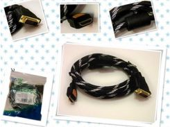 Кабель HDMI-DVI 1,5m с 2-я фильтрами (в оплетке)