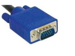 Кабель VGA 5m HD15M/M Black-Blue с 2-я ферритовыми кольцами
