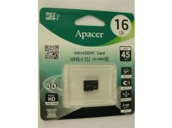 Micro SD card 16Gb Apacer class 10 UHS-1 (AP16GMCSH10U1-RA)