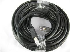 Кабель HDMI-HDMI V-1.4 15m 19PM/M HIGH SPEED OD-7.5mm, круглый Black