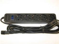 Сетевой фильтр Merlion B545 black (4,5 m) UPS (10A)