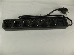 Сетевой фильтр Merlion B618 black (1,8 m) 6 розеток (10A)