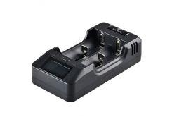 Зарядное устройство от 220V/12V, Powerbank, XTAR VP2, Li-Ion/LiFePO4 (3.6-4.35V), LCD индикатор, Box