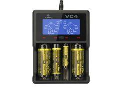 Зарядное устройство от 220V/USB, XTAR VC4, Ni-Cd/Ni-Mh/Li-Ion, LCD индикатор, Box