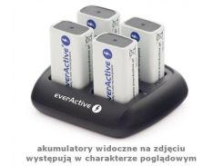 Зарядное устройство от 220V/12V, everActive NC-109, 4 канала, Крона-Ni-Mh, LED, Box