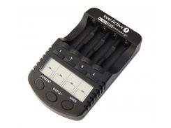 Зарядное устройство от 220V/12V, USB, everActive NC-1000 PLUS, 4 канала, Ni-Cd/Ni-Mh, Test, LCD, Box