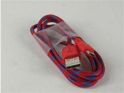 Кабель Micro USB2.0 5P/AM 1m Red+Blue(в оплетке)