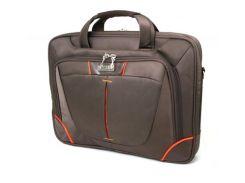 """Сумка для ноутбука 13"""" LogicFox LF-8950S нейлон, темно-коричневый, плечевой ремень"""