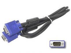 Кабель VGA 1,5m Black с 2-я ферритовыми кольцами