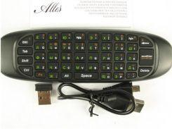Пульт для телевизора с клавиатурой Rii mini i9 RT-MWK9, Black, Airmouse Original