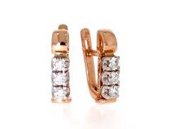 Серьги из красного золота с бриллиантами 1670104