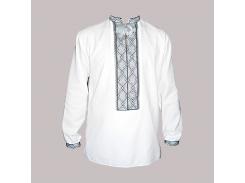 Рубашка Украинская вышиванка 569 цвет белый размер L