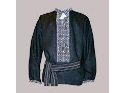 Рубашка Украинская вышиванка 48 цвет чёрный размер M/L