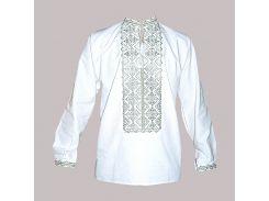 Рубашка Украинская вышиванка 404 цвет белый размер XXL/3XL