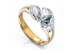 Кольцо из красного золота с бриллиантами 1680546, 17 размер