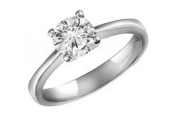 Кольцо из белого золота с бриллиантом 114216, 19.5 размер