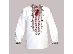 Рубашка Украинская вышиванка 567 цвет белый размер XXL/3XL