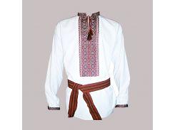 Рубашка Украинская вышиванка 214 цвет белый размер XL