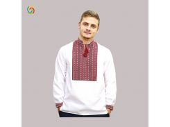 Рубашка Украинская вышиванка 21444 цвет белый размер M