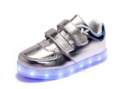 Кроссовки Baobei LED Silver Strap 26
