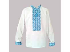 Рубашка Украинская вышиванка 342 цвет белый размер 4XL