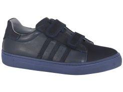Кроссовки TOPITOP 1185 для мальчиков темно-синие, кожа+нубук. Размер 38
