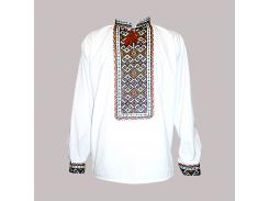 Рубашка Украинская вышиванка 277 цвет белый размер XXL/3XL