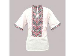 Рубашка Украинская вышиванка 477 цвет белый размер S/M