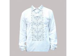 Рубашка Украинская вышиванка 581 цвет белый размер S