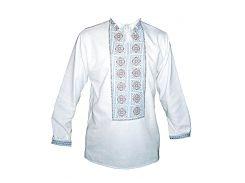 Рубашка Украинская вышиванка 575 цвет белый размер XL/XXL