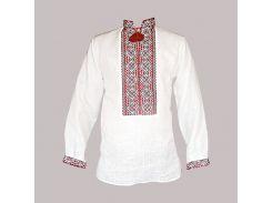 Рубашка Украинская вышиванка 515 цвет белый размер L/XL