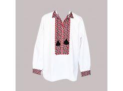 Рубашка Украинская вышиванка 1277 цвет белый размер M/L