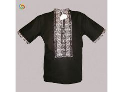 Рубашка Украинская вышиванка 5331 цвет чёрный размер 4XL