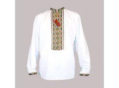 Рубашка Украинская вышиванка 22 цвет белый размер XXXL