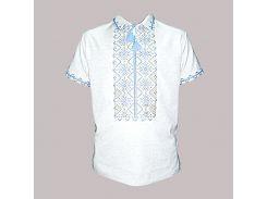 Рубашка Украинская вышиванка 1564 цвет серый размер XL