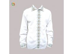 Рубашка Украинская вышиванка 15629 цвет белый размер XXL