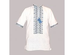 Рубашка Украинская вышиванка 469 цвет белый размер L