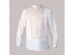 Рубашка Украинская вышиванка 592 цвет белый размер XXXL