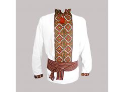 Рубашка Украинская вышиванка 120 цвет белый размер L/XL