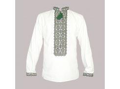 Рубашка Украинская вышиванка 566 цвет серый размер 5XL