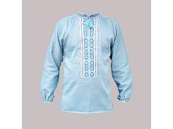 Рубашка Украинская вышиванка 1627 цвет синий размер XL