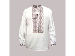 Рубашка Украинская вышиванка 407 цвет белый размер L/XL